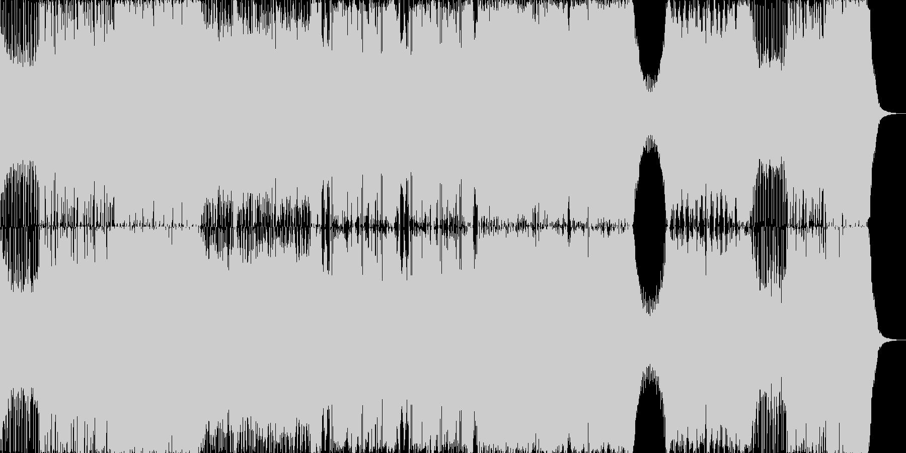 ダブステップとギターによるハードな曲の未再生の波形