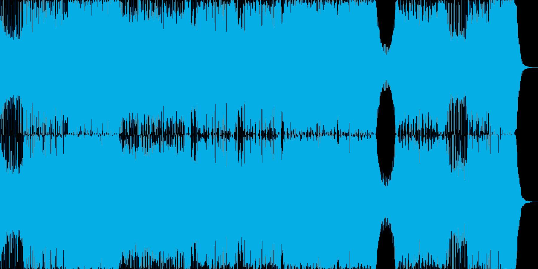 ダブステップとギターによるハードな曲の再生済みの波形