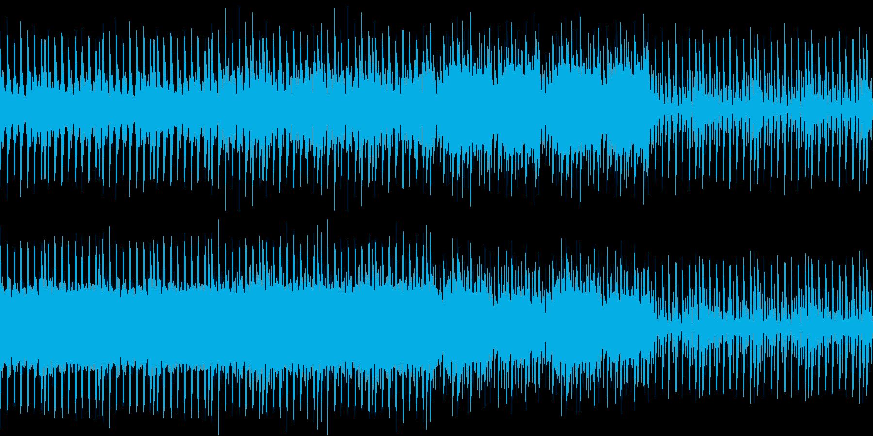 夏の空を飛んでいるような爽やかなEDMの再生済みの波形