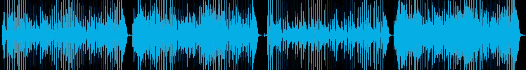 ワウギター主体の16ビートファンクの再生済みの波形