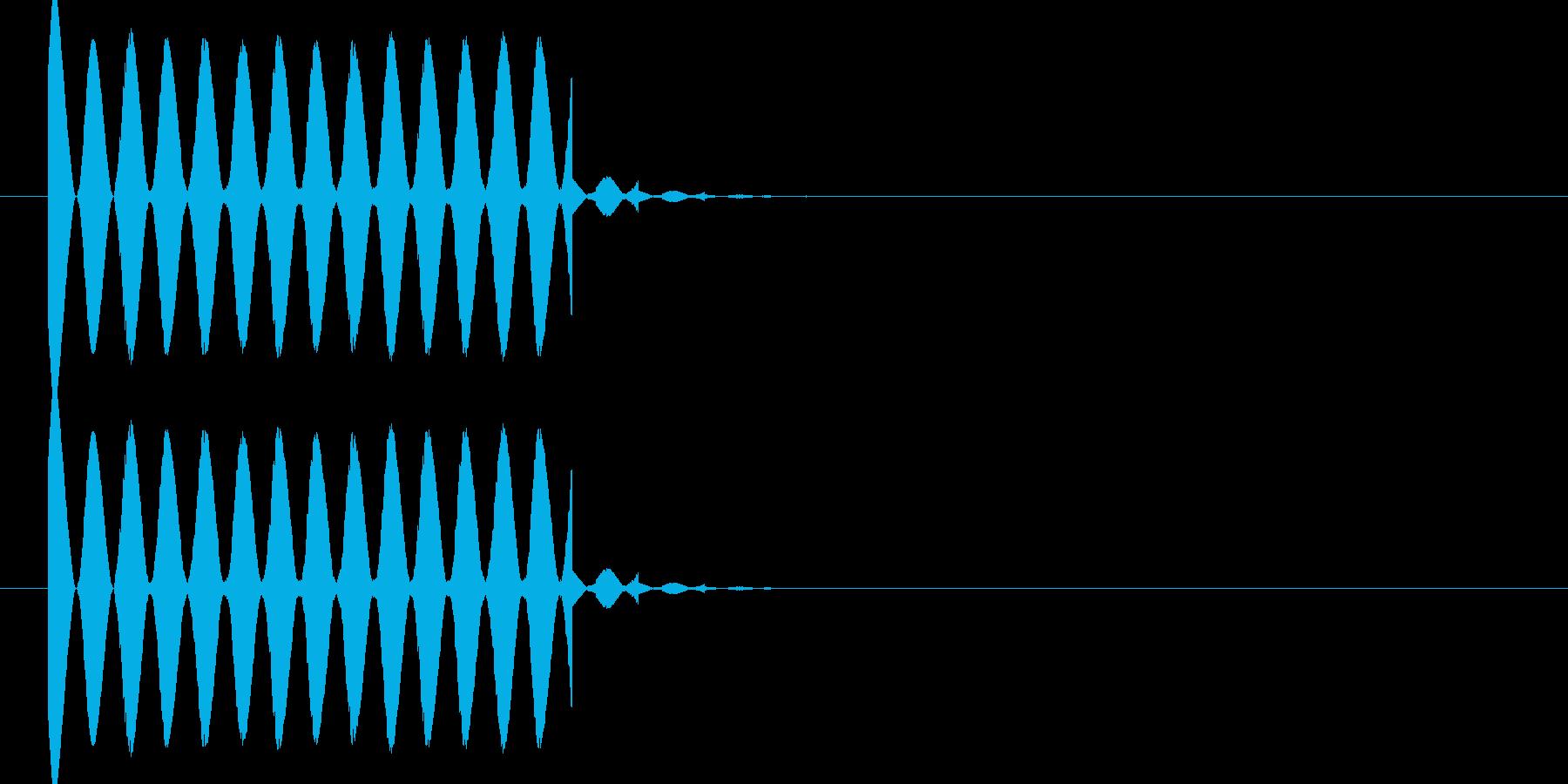 ビビビ ピヨピヨ ビヨーンな光線音1ですの再生済みの波形