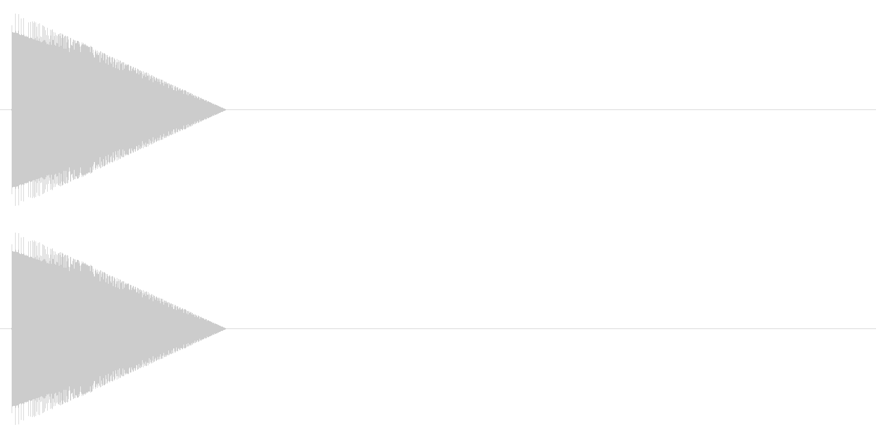 レトロゲーム風・アイテムゲット#2の未再生の波形
