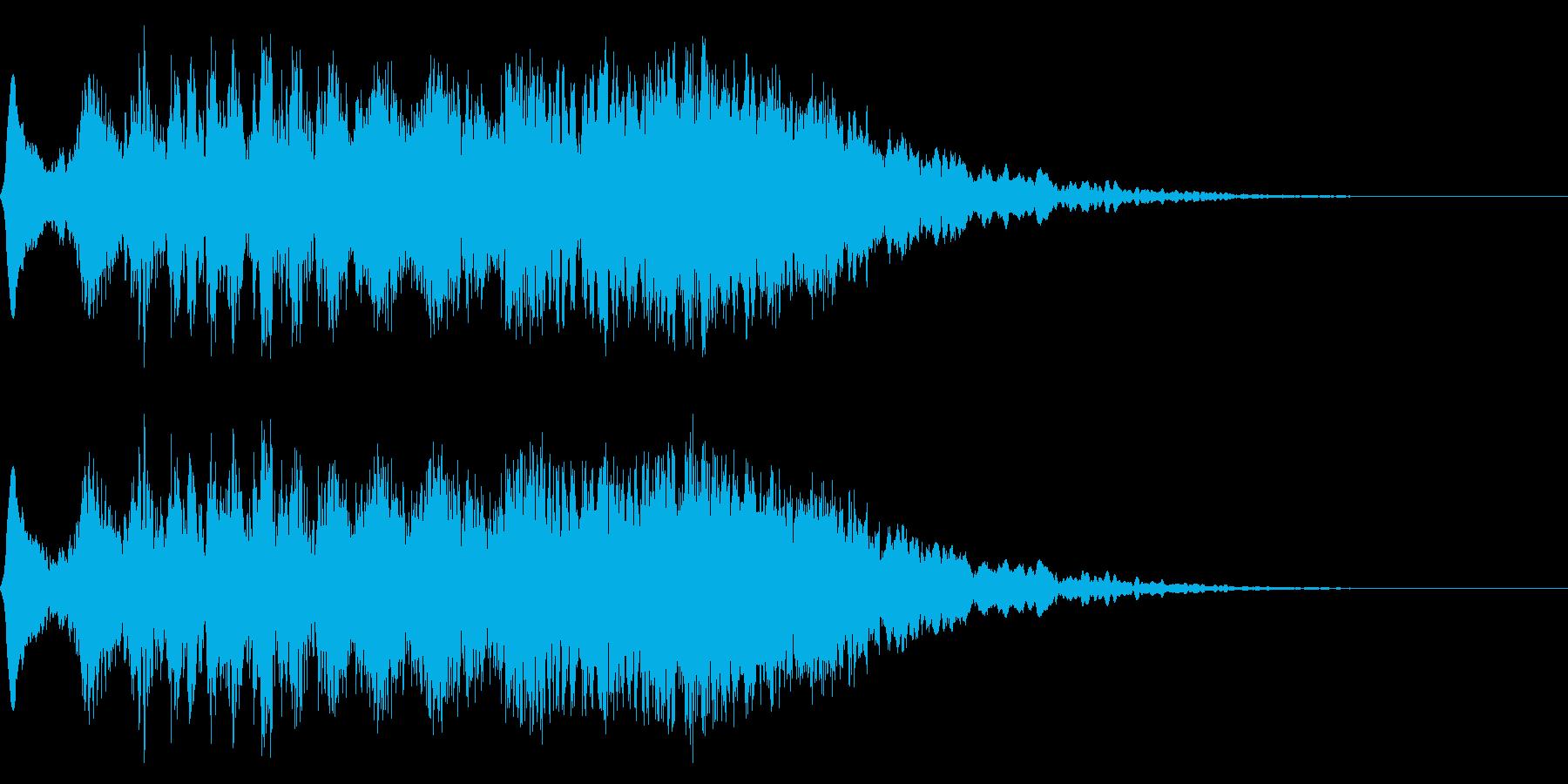 電波、ホラー、サスペンスの再生済みの波形