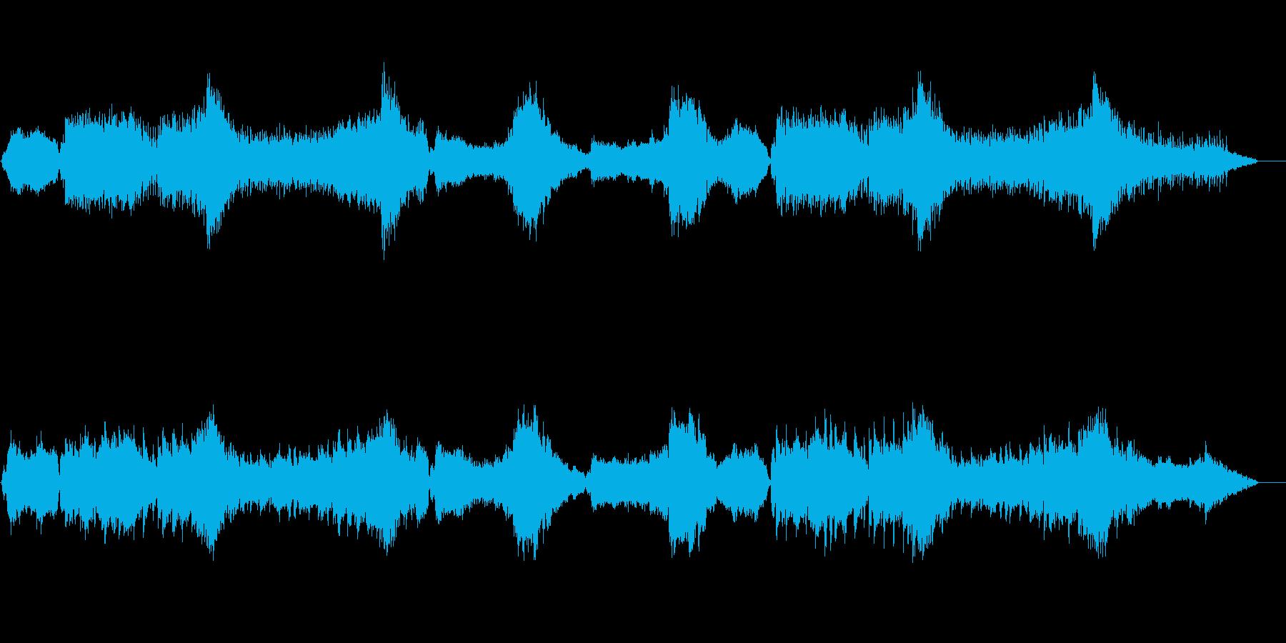 BGM的であり感動を演出するツボを持つ曲の再生済みの波形