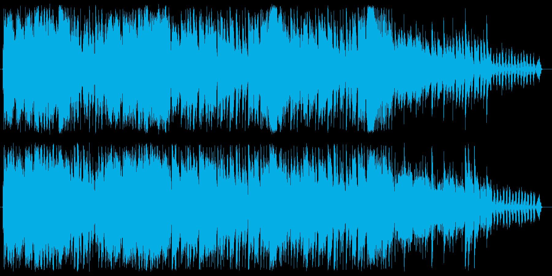 ド派手なブレイクビーツ系ジングルの再生済みの波形