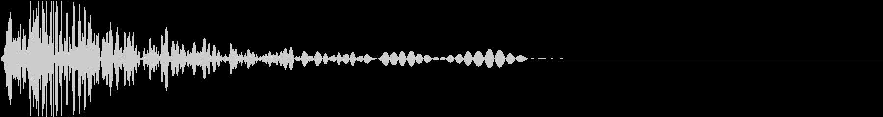 肉体が空を切る(打撃、かわす)イメージの未再生の波形
