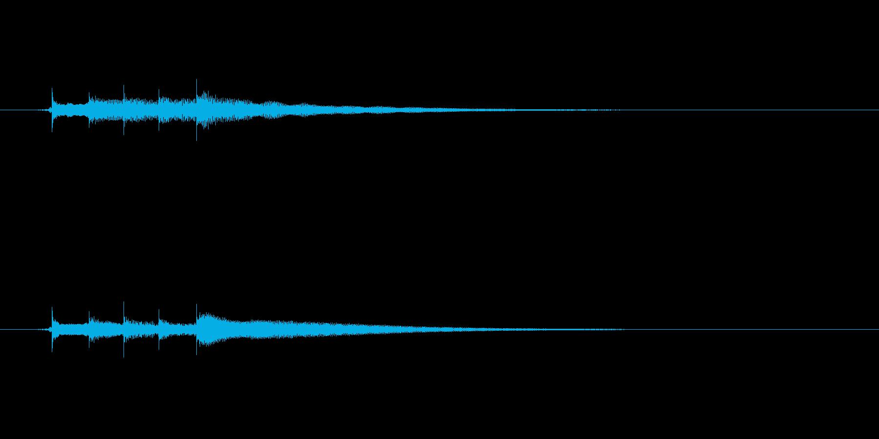 チャイムのようなギターハーモニクスの再生済みの波形