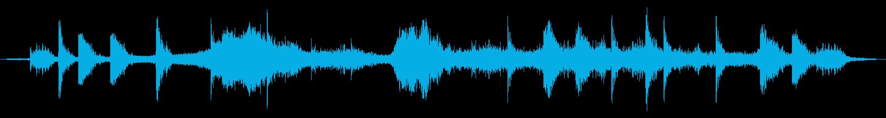 戦場イメージの効果音(タイプB)の再生済みの波形