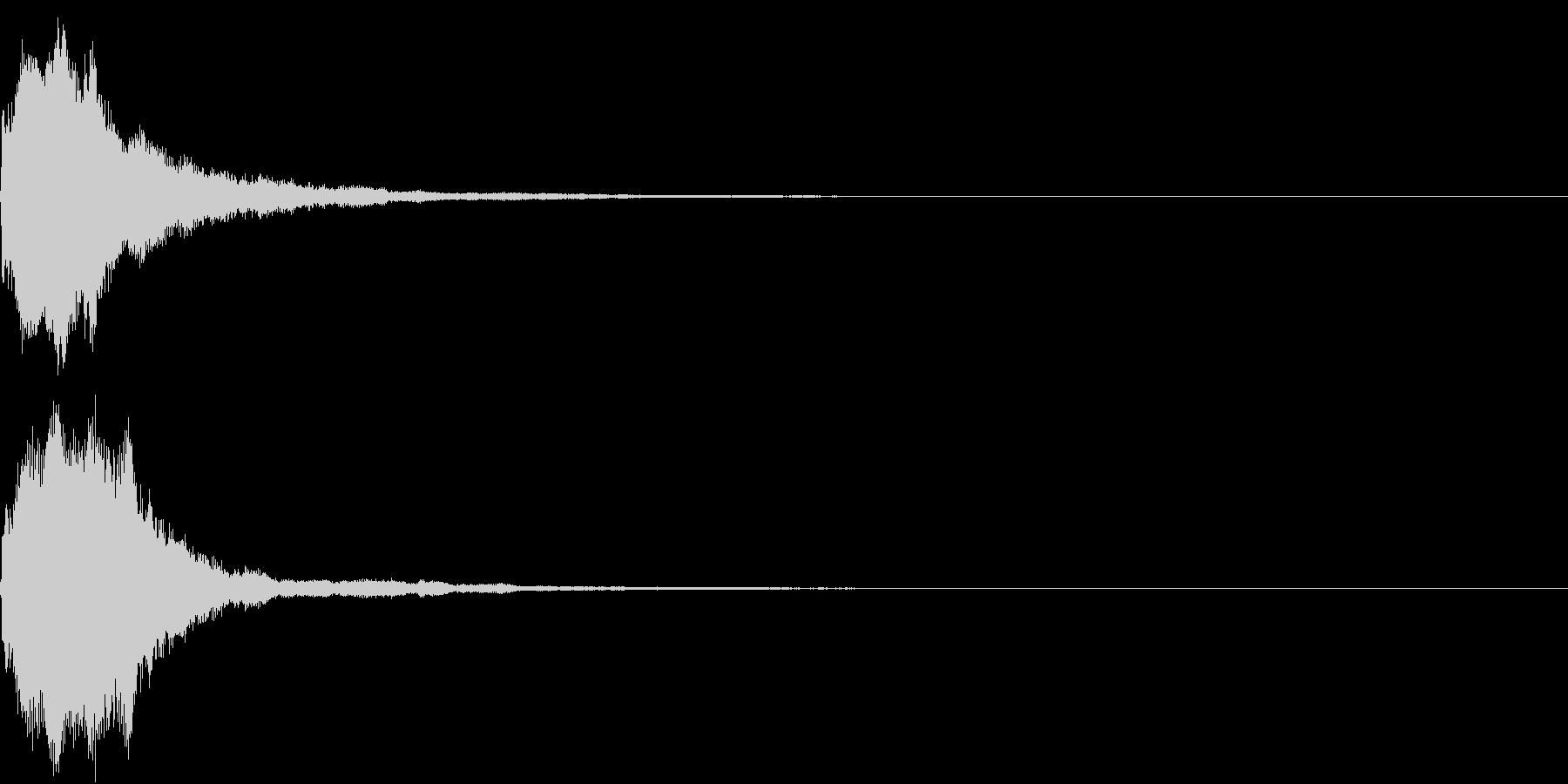 キラキラ 発見 見つける 発明 開始 2の未再生の波形