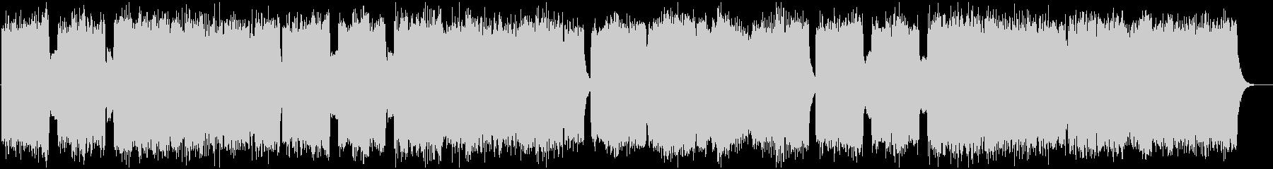 広がりのある教会風BGMの未再生の波形