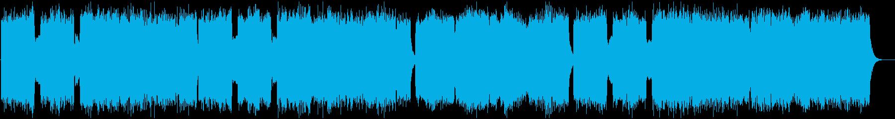 広がりのある教会風BGMの再生済みの波形