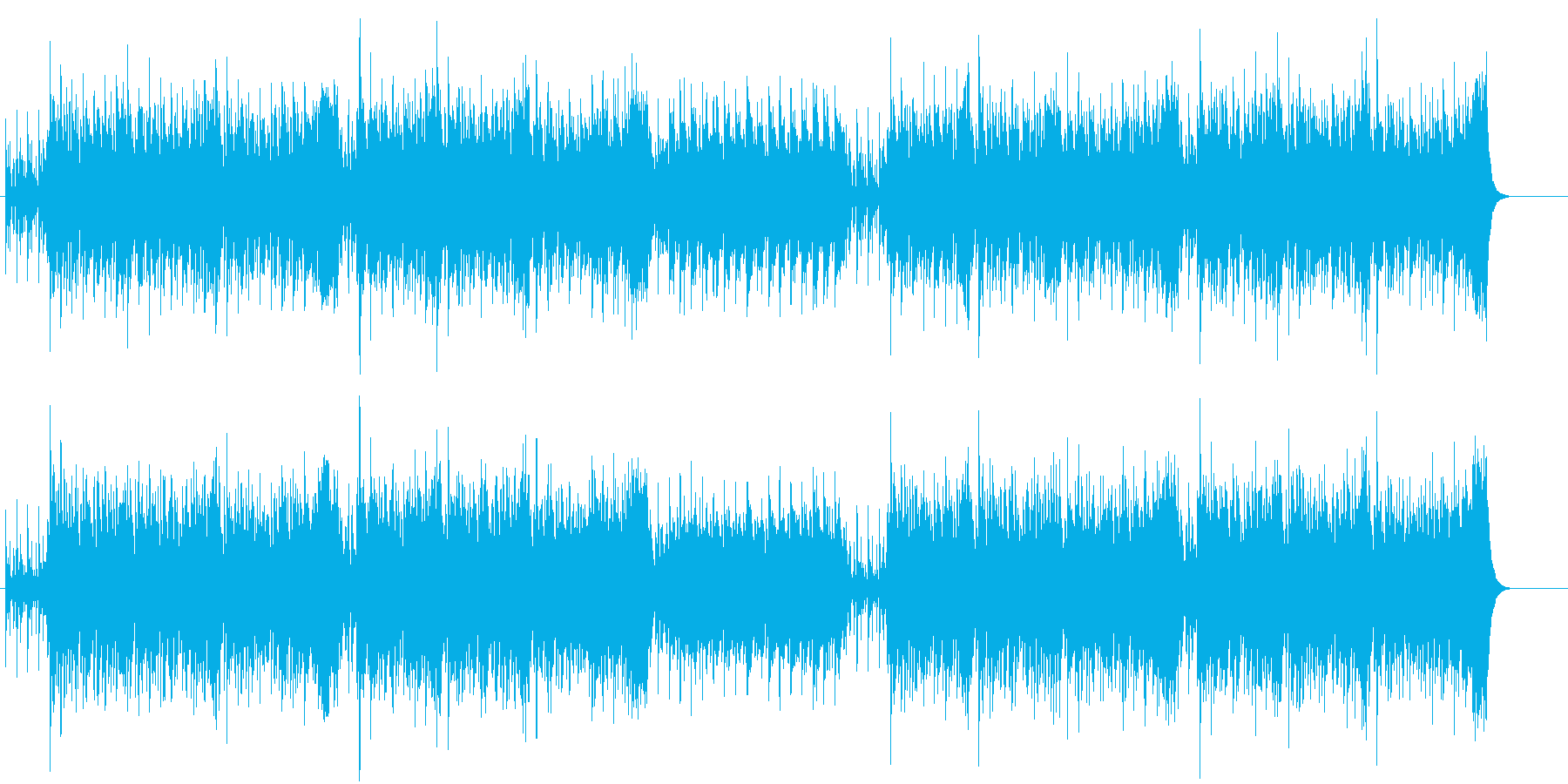 イスラムを思わせるキャッチーな民族音楽風の再生済みの波形