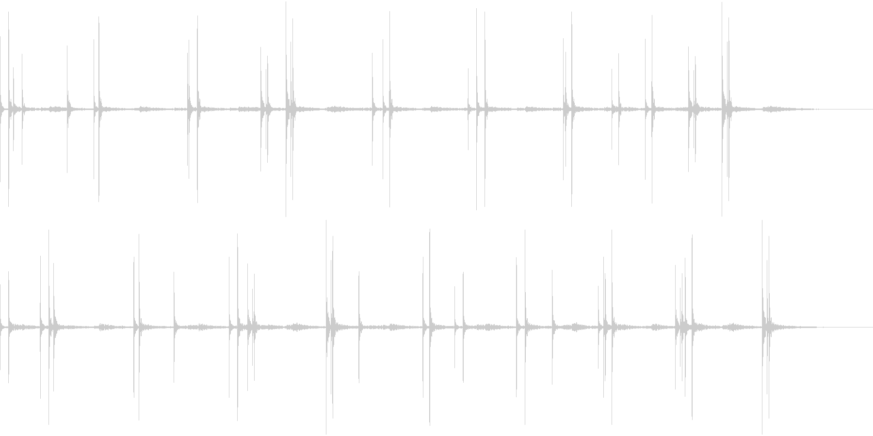 不規則に水滴が落ちる音(ループ素材)の未再生の波形