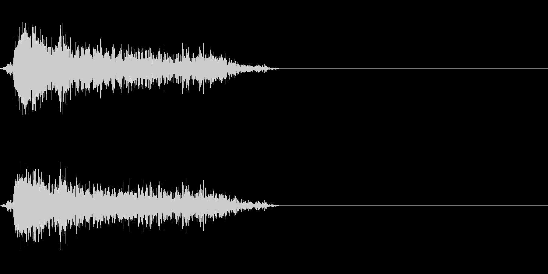 空気圧の音(ドアや工場などに)の未再生の波形