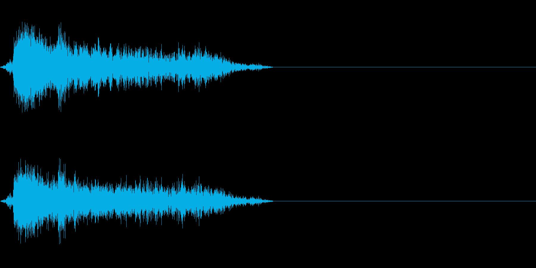 空気圧の音(ドアや工場などに)の再生済みの波形