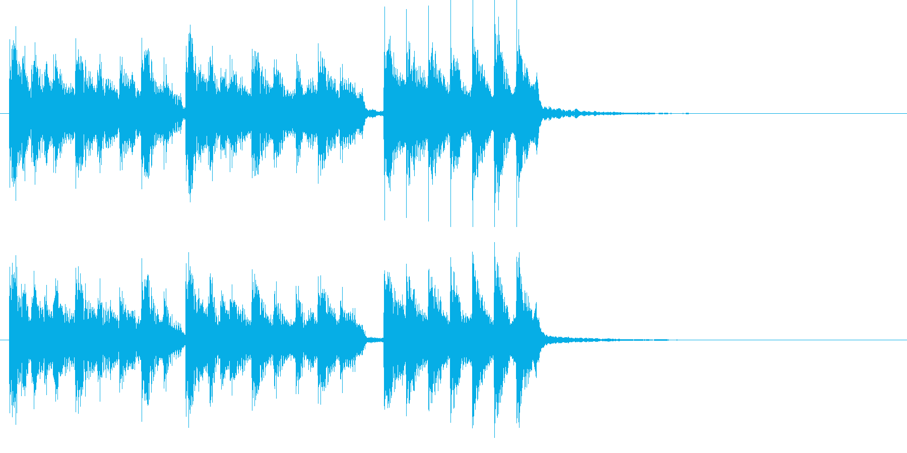 尺八によるマイナー調の和風ジングルの再生済みの波形