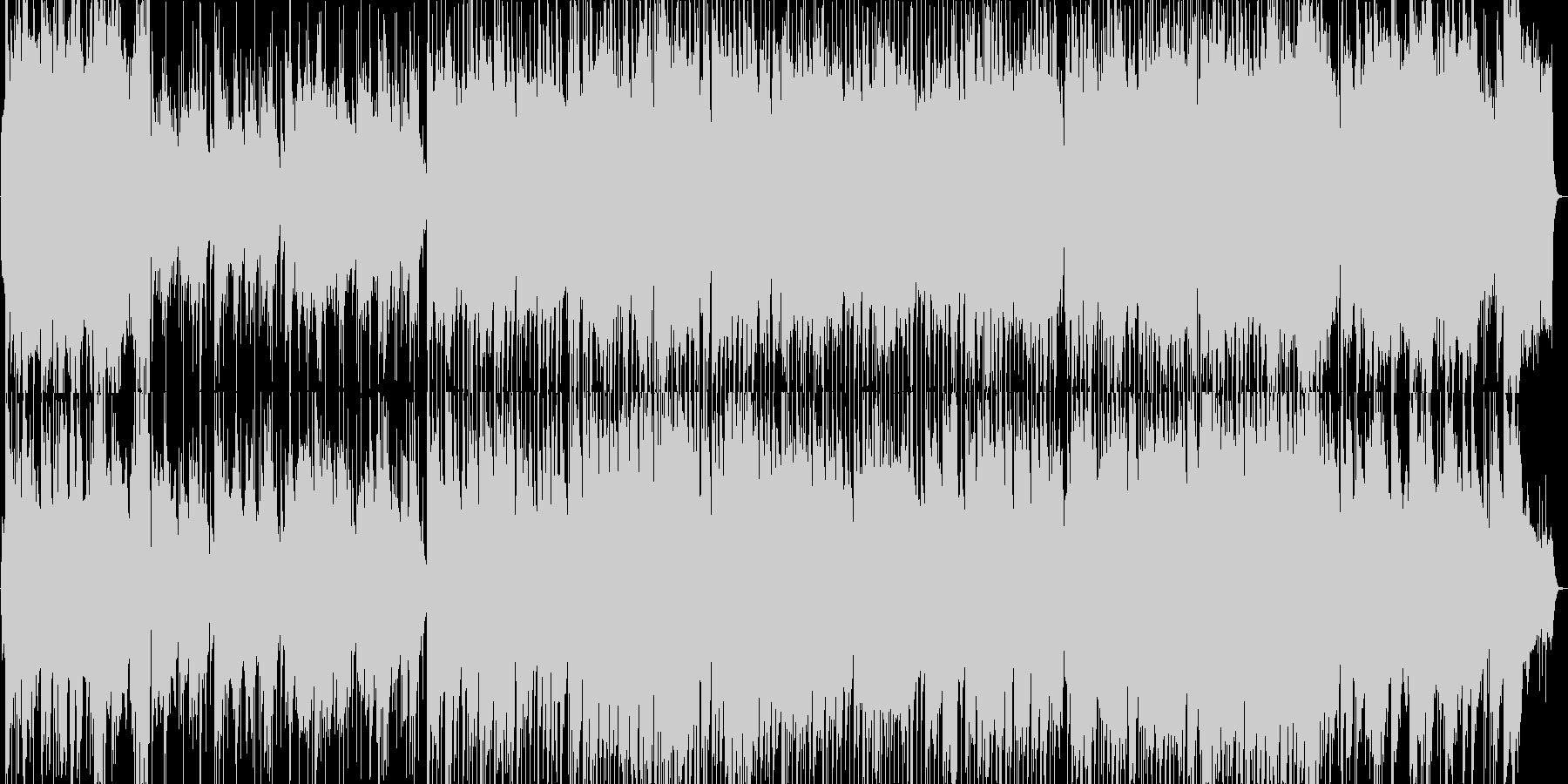 ジャジーな雰囲気のビッグバンド風ブルースの未再生の波形