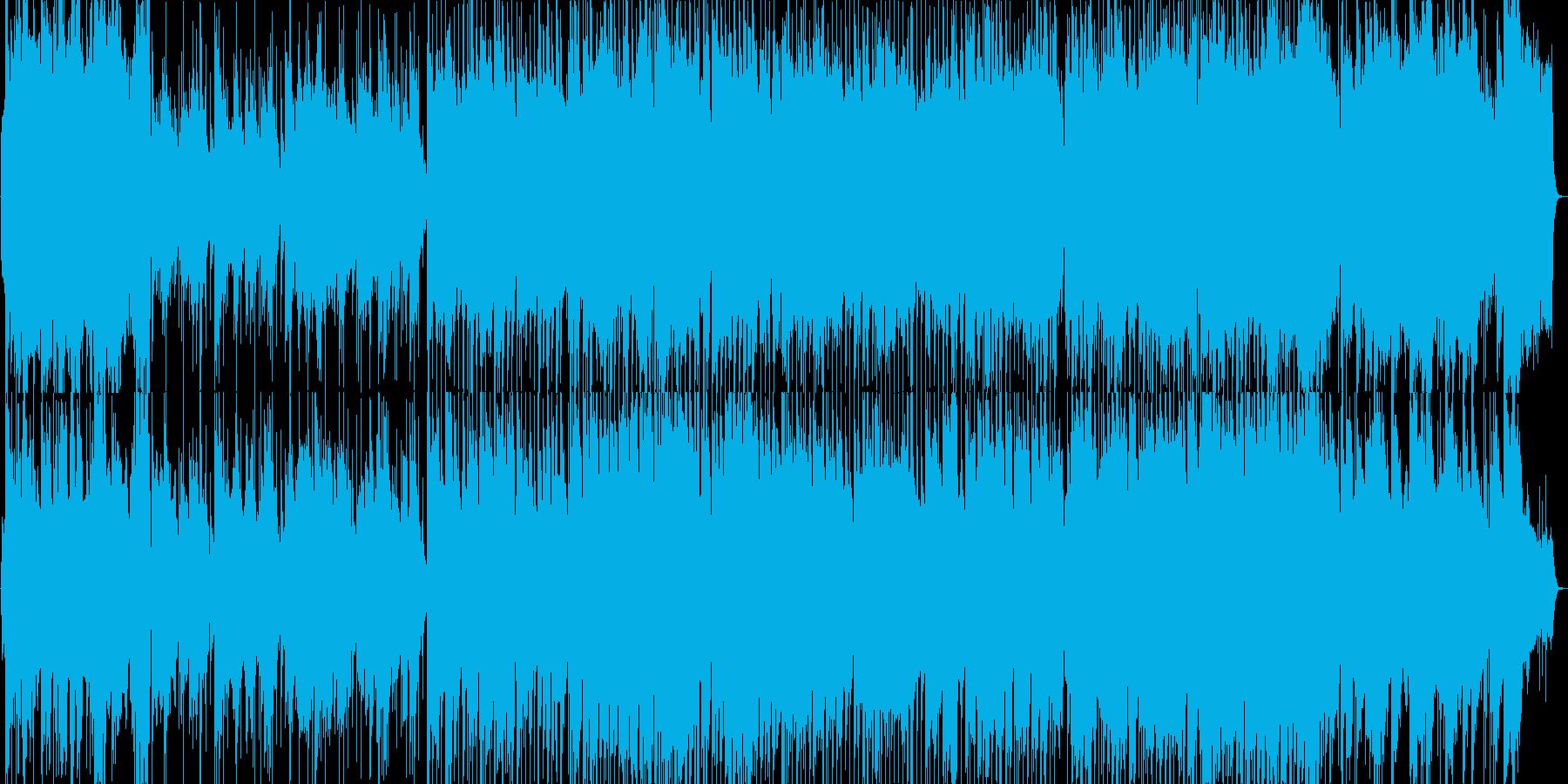 ジャジーな雰囲気のビッグバンド風ブルースの再生済みの波形