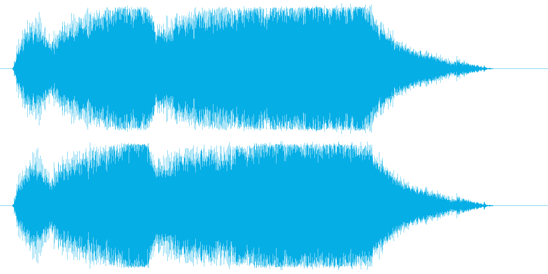 チェーンソーやバイクのエンジン音2の再生済みの波形