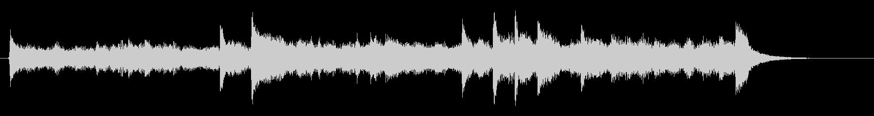 ピアノとストリングスのヒーリングの未再生の波形
