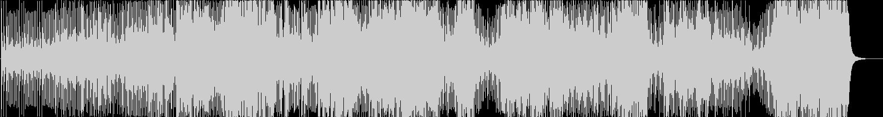 三味線と和太鼓の激しい曲の未再生の波形