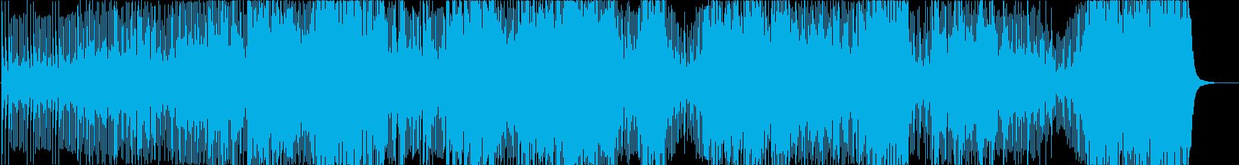 三味線と和太鼓の激しい曲の再生済みの波形