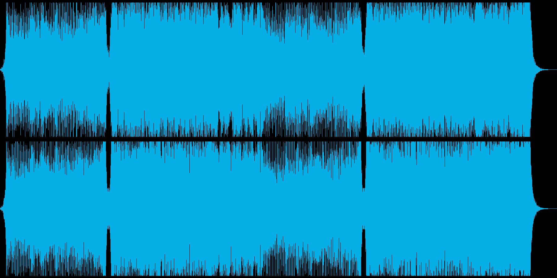 オーケストラ4つ打ちコーラス 疾走感の再生済みの波形