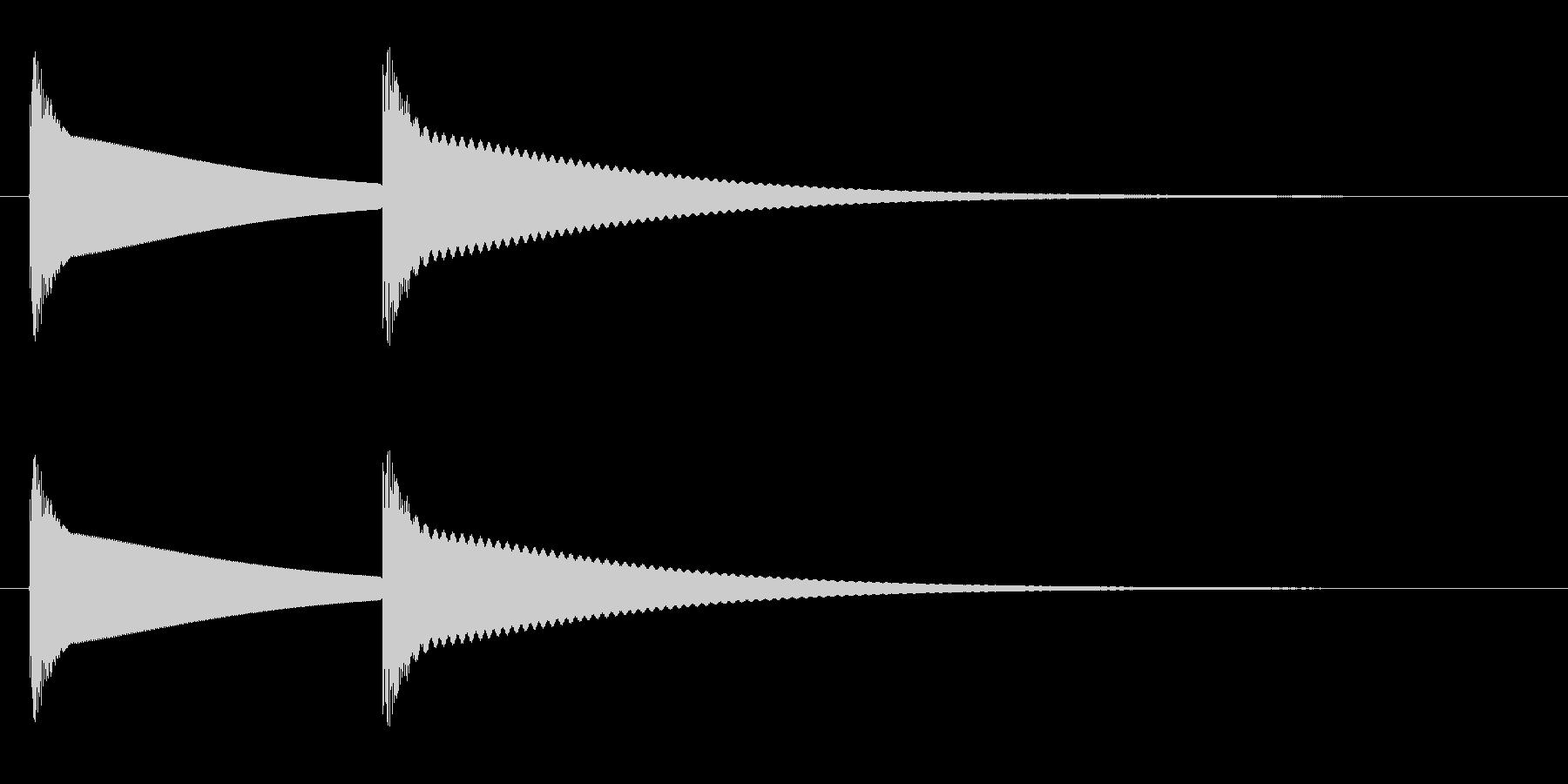 ピンポン(やや丸みのある高音の金属音)の未再生の波形