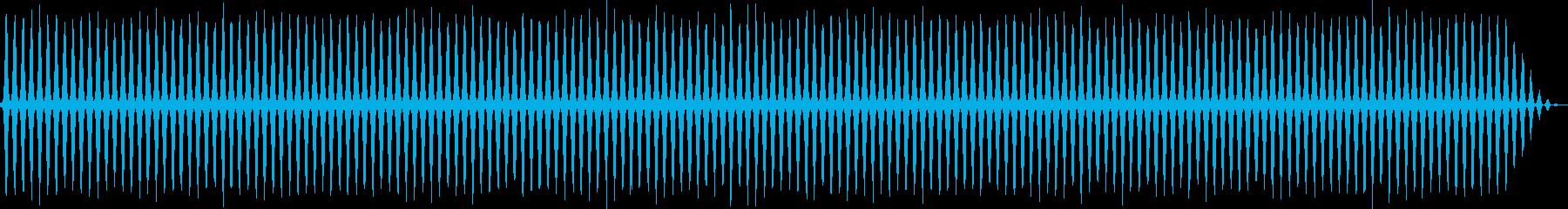 レトロゲームにありそうなヘリコプターの音の再生済みの波形