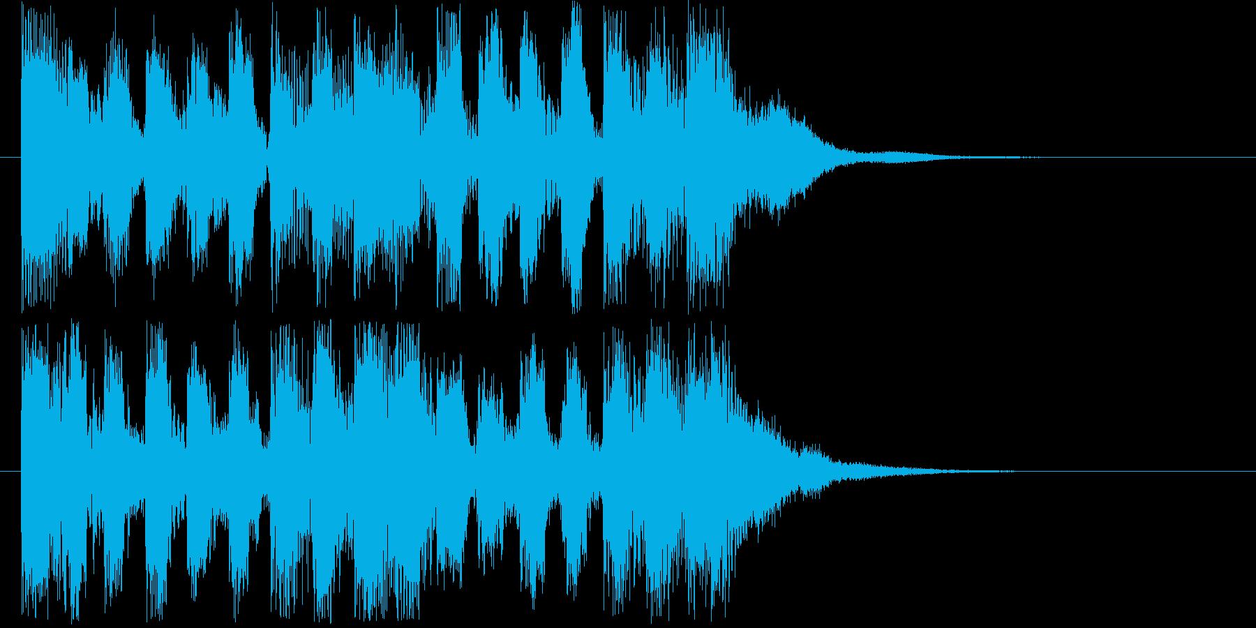 一段落着いた際の場面転換ジングルの再生済みの波形