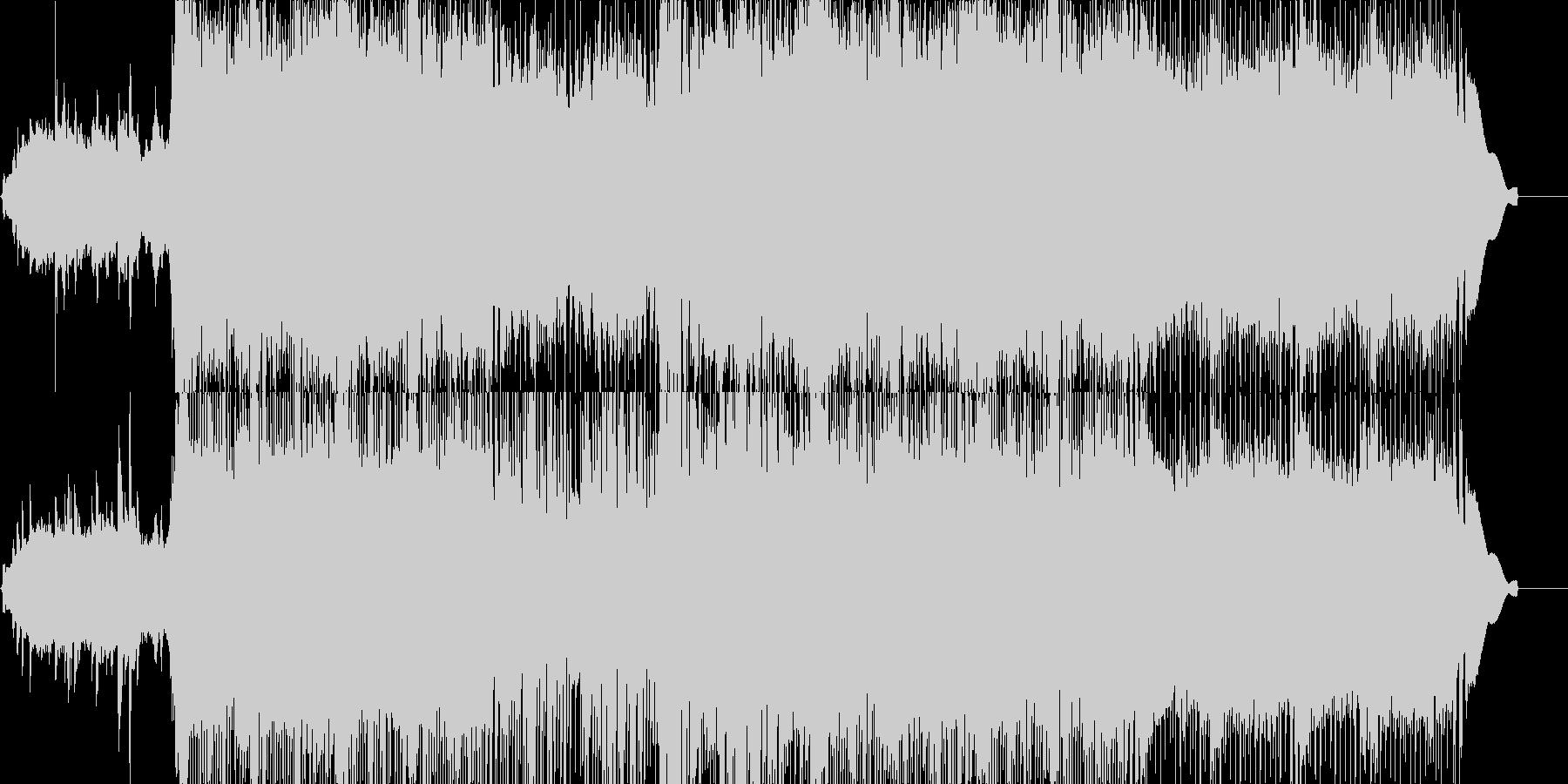 和風で、しかもポップな入場曲の未再生の波形