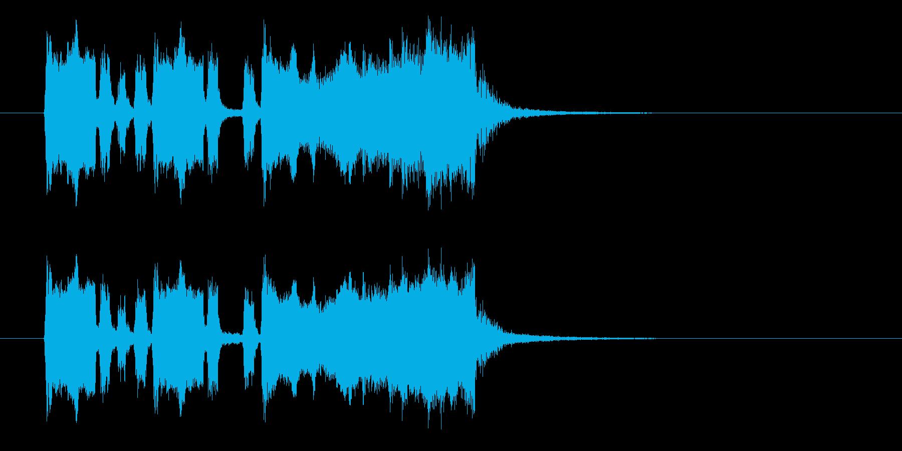 ゲームでゴールに達成したときの音の再生済みの波形