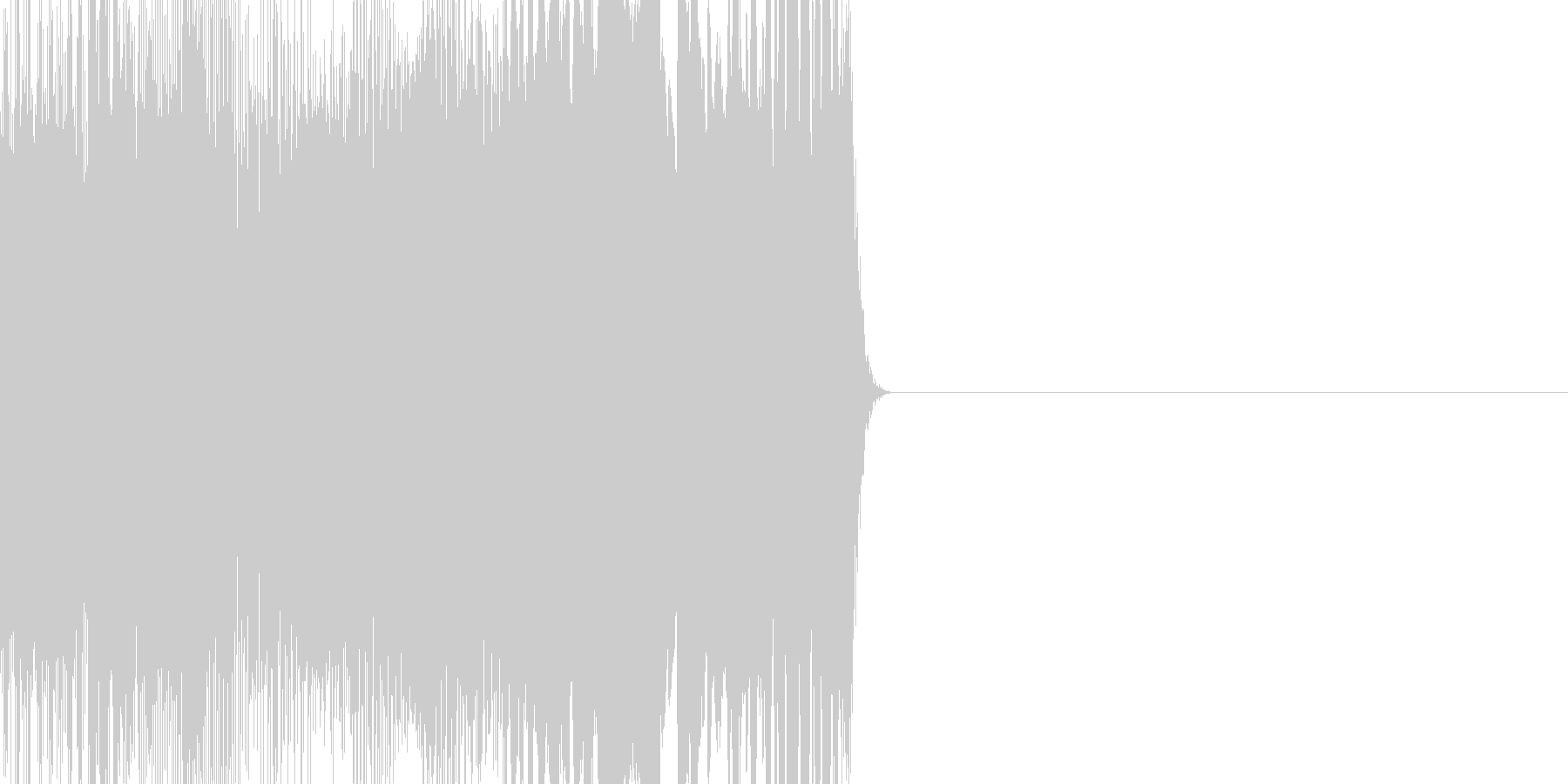 サイレン系ノイズの未再生の波形