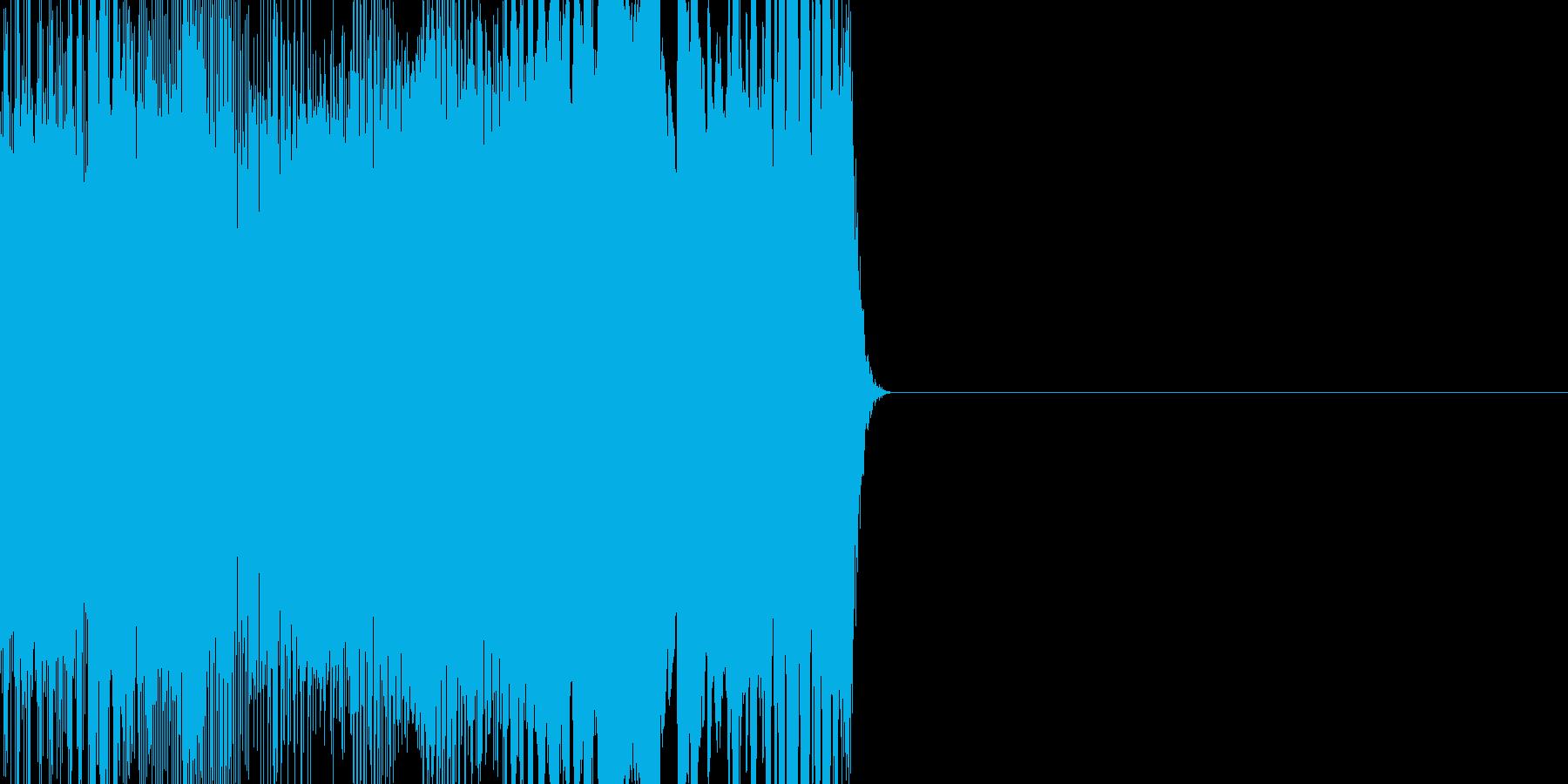 サイレン系ノイズの再生済みの波形