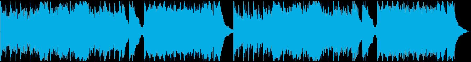 ピアノ&ホラーアンビエントの再生済みの波形