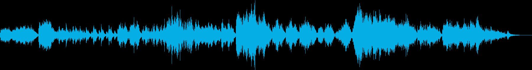 森の中にいるようなピアノ曲の再生済みの波形