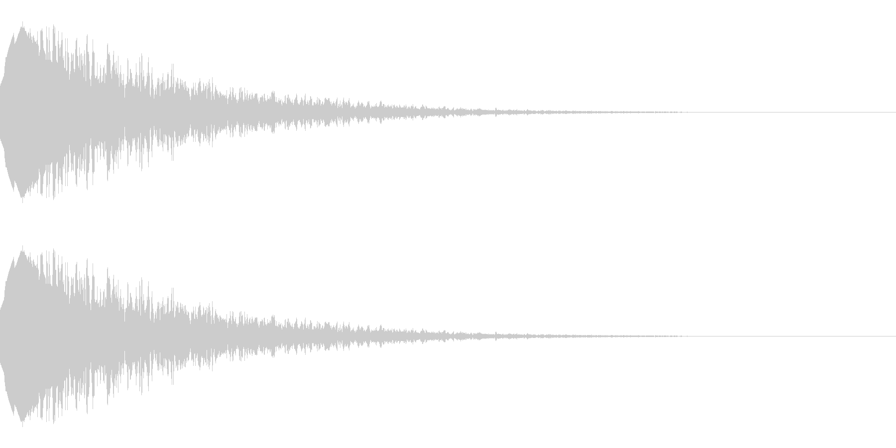 流れ星のような効果音(キラキラ/落下)の未再生の波形