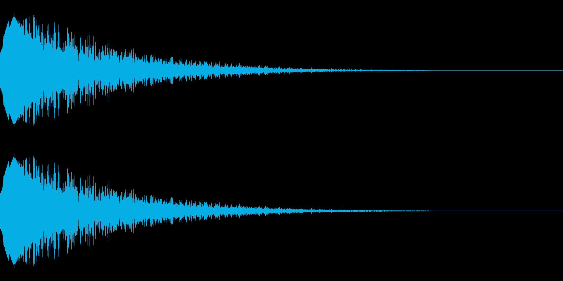 流れ星のような効果音(キラキラ/落下)の再生済みの波形