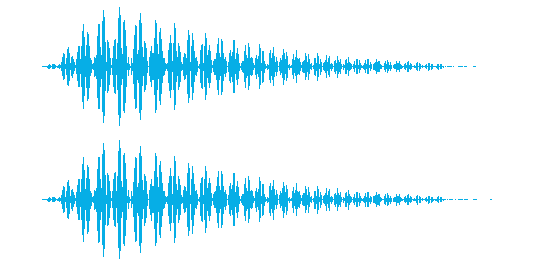 ひょい/戻る/柔らかいの再生済みの波形
