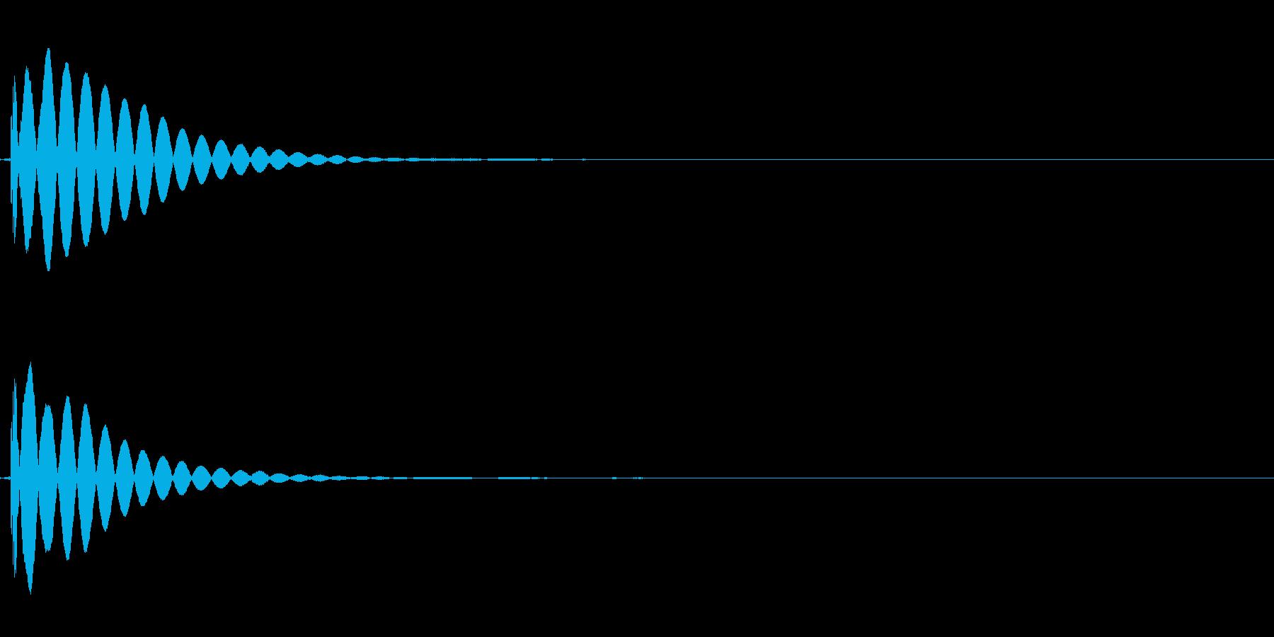 木琴の不協和音(アラーム)の再生済みの波形
