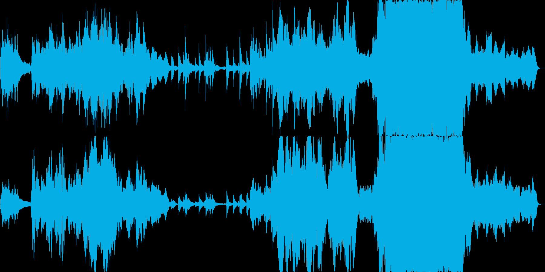 切ない感動的に盛り上げるオーケストラの再生済みの波形