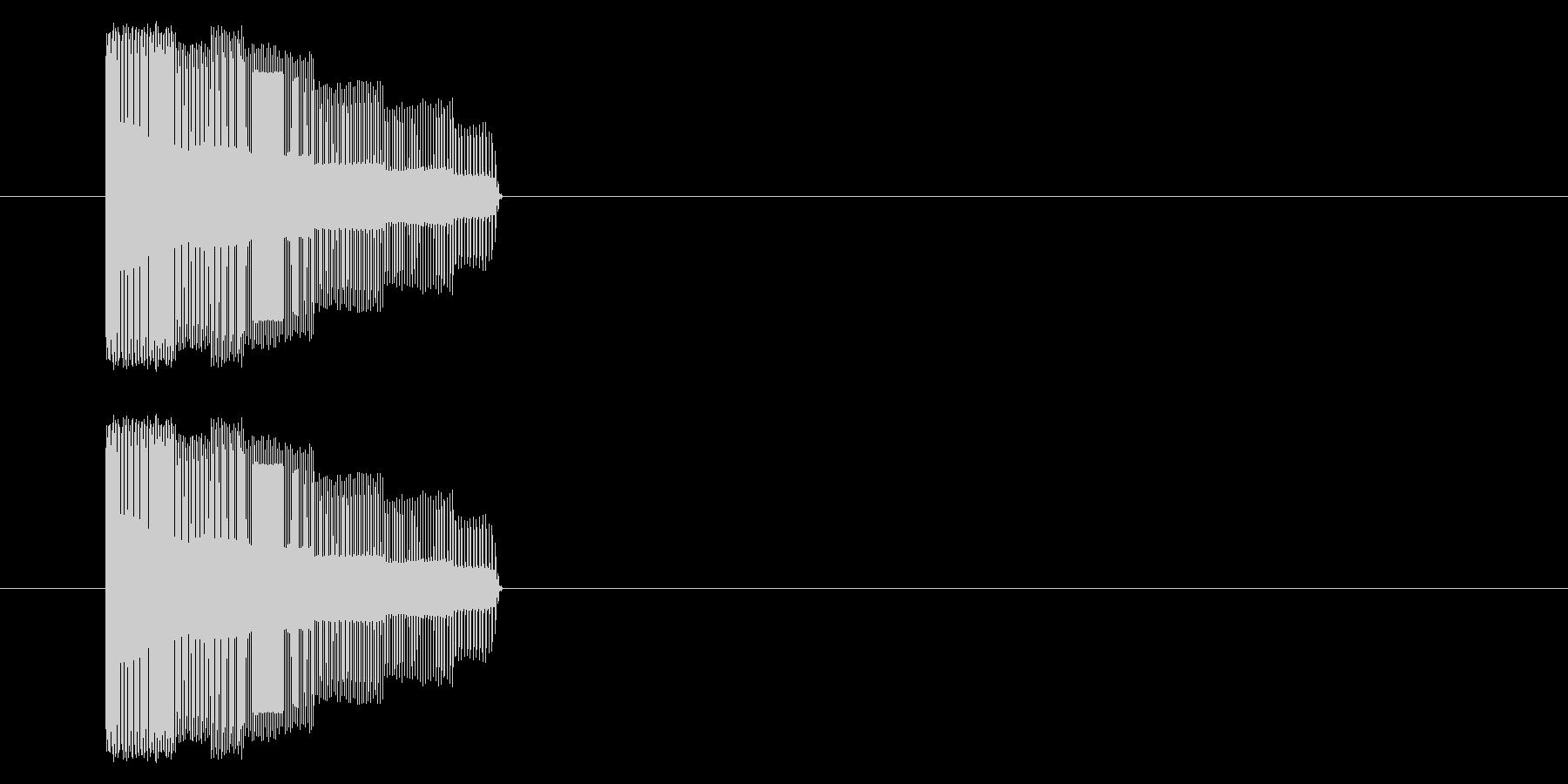 NES シューティング01-2(発射)の未再生の波形
