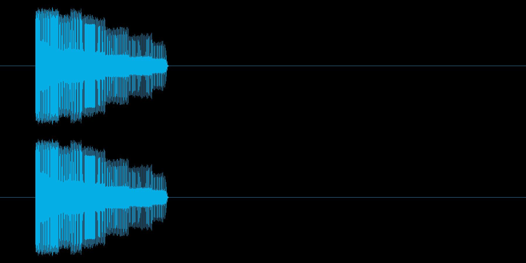NES シューティング01-2(発射)の再生済みの波形