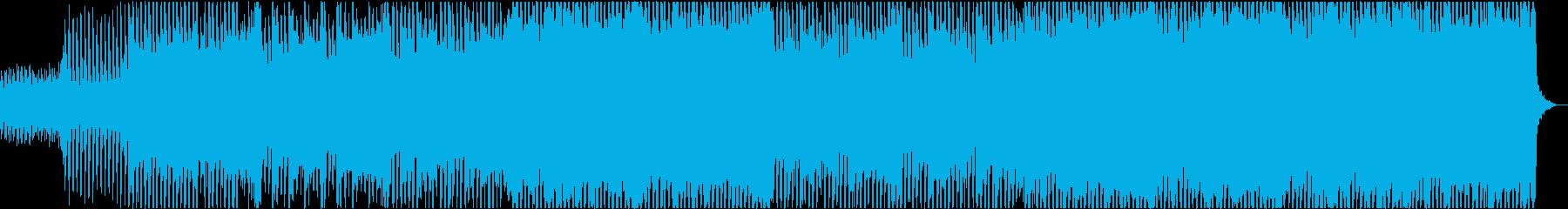 前向きな4つ打ちストリングス・メロ無しの再生済みの波形