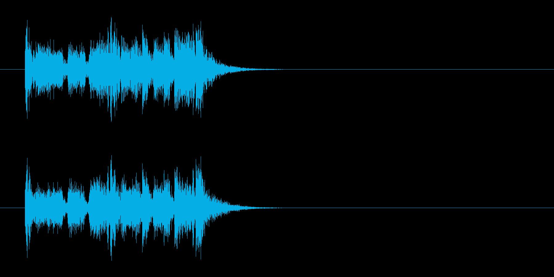 ジングル/追跡、スポーツ(ロック)の再生済みの波形