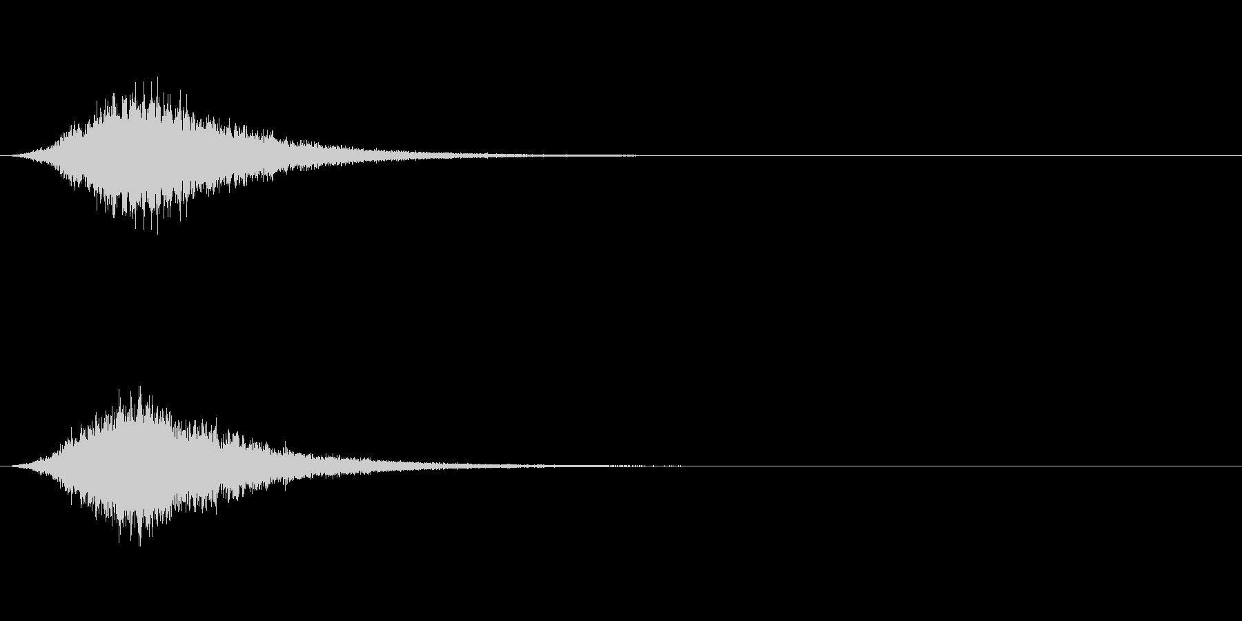シャララン(決定音)の未再生の波形