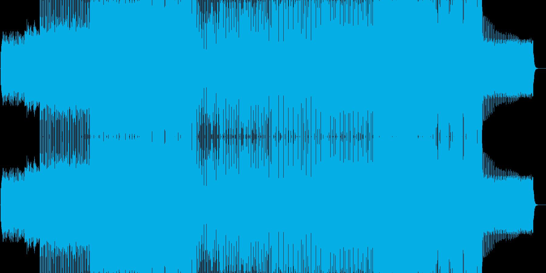 ノリの良いEDMの再生済みの波形