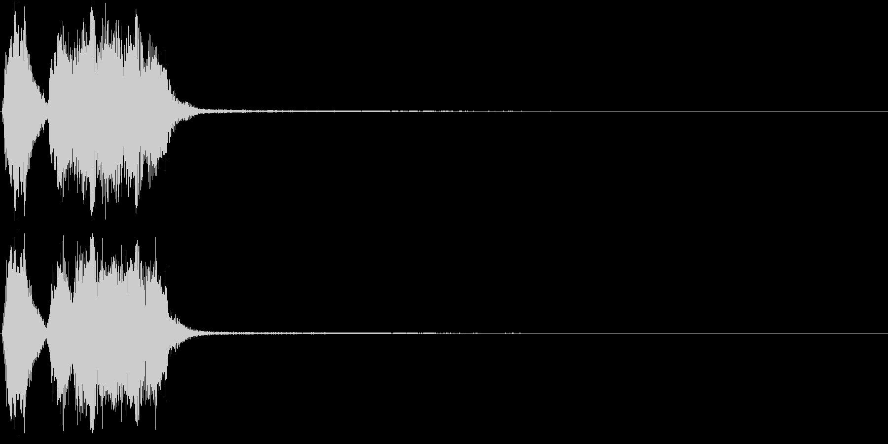 トランペット ファンファーレ 定番 4の未再生の波形