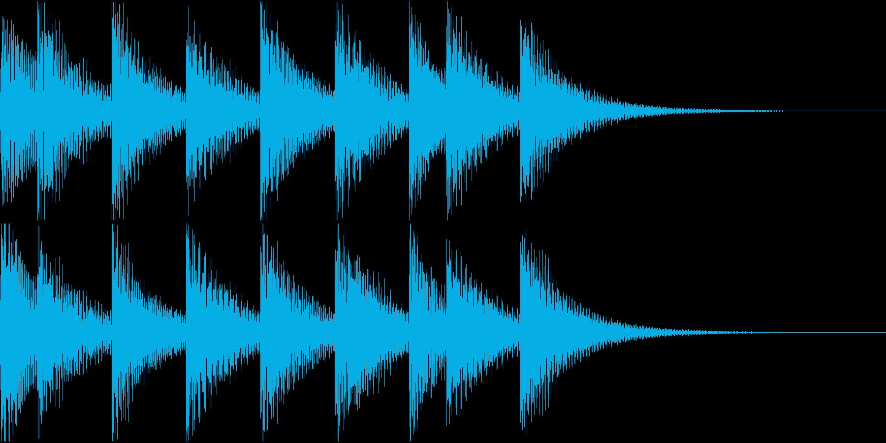 シンプルベル お知らせ ハテナ ? 15の再生済みの波形