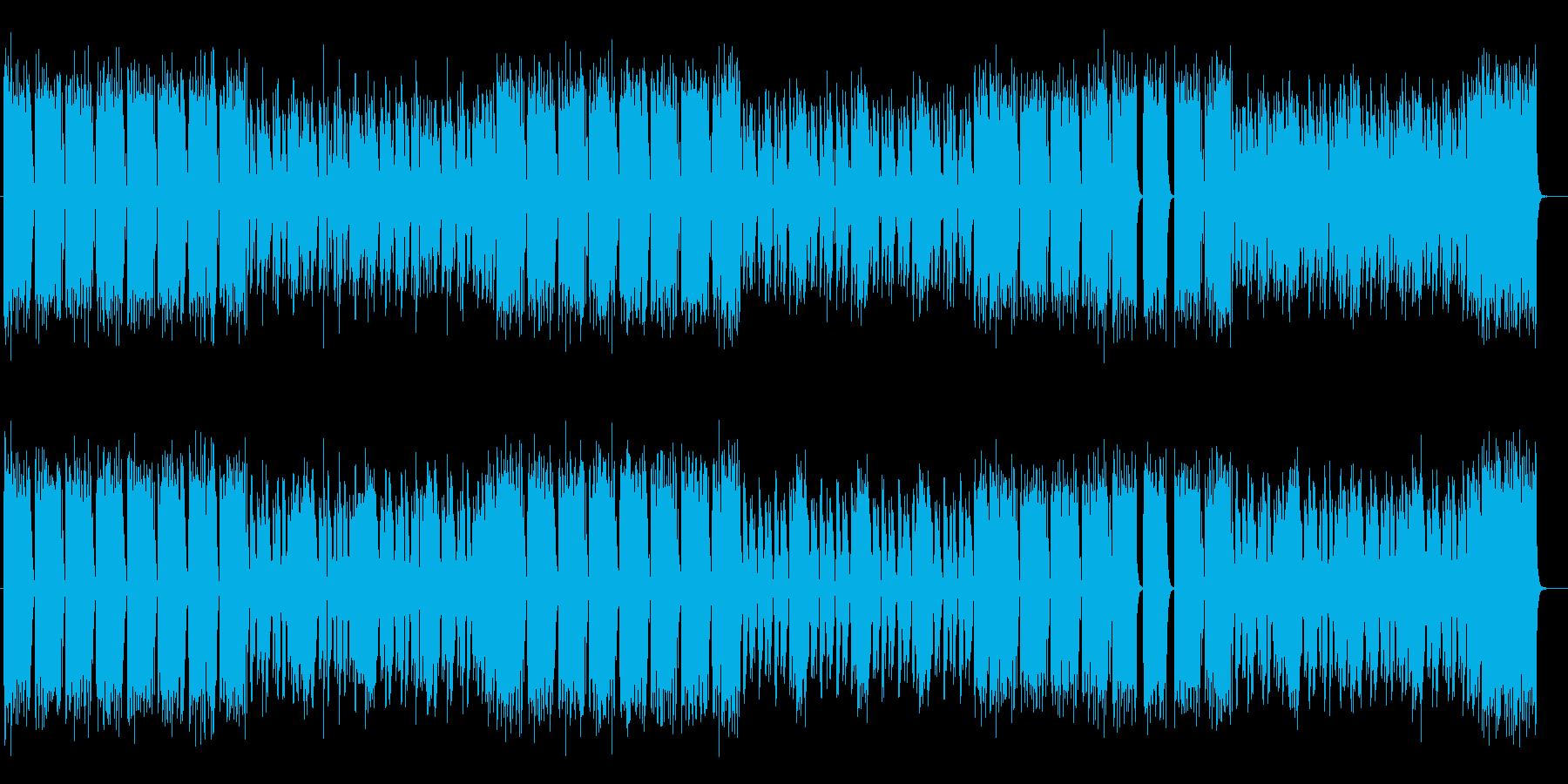 デジタルなビートが力強いロックの再生済みの波形